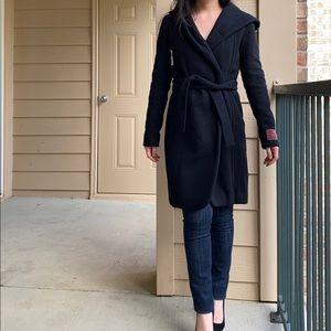 Wilfred Montgomery Black Wool Coat XS